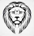 Lions head tattoo design vector