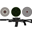 Sniper rifle and targets vector