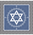 Holiday shalom hebrew design with david star - jew vector