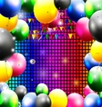 Birthday background with balloon vector
