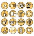 Food icons flat line set vector