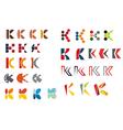 K alphabet symbols vector