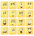 Different facial expressions vector