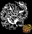 Fox devil tattoo vector