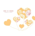 Warm day flowers heart symbol frame pattern vector