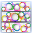 Colorful banners with circles vector