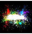 Color paint splashes gradient background vector