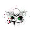 Artistic skull vector