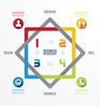 Modern design infographic templatecan vector