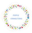 People communication background - frame vector