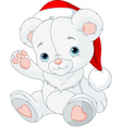 Christmas teddy bear vector