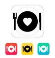 Romantic dinner icon vector