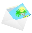 Envelope with a card vector