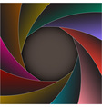 Colorful shutter photo frame vector