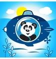 Panda on a submarine vector