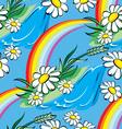 Spring rainbow seamless vector