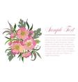Bouquet of summer flowers vector