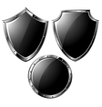 Black steel shields vector