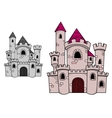 Medieval castle with towers vector