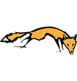 Running fox vector