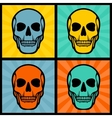 Four with skulls on pop art background vector