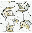 Seamless pattern with stylized decorative leaves vector