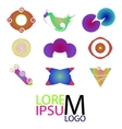 Set of logo icons abstract colorful logotype vector
