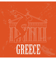 Greece landmarks retro styled image vector