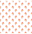 Seamless cupcakes pattern on white background vector