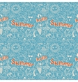 Seamless pattern with sketch drawing summer vector