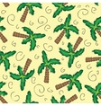Green palm trees seamless pattern vector