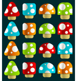 Mini magic mushrooms vector