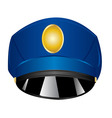 Service cap police vector