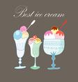 Stok vektor best ice cream vector