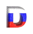 Russian cutted figure d paste to any background vector