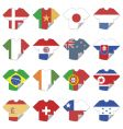 T-shirt flags vector