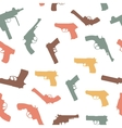 Guns set seamless pattern vector