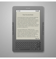 Black cool digital keybord book reader vector