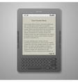 Black cool digital keybord book reader vector