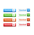 Download web buttons vector
