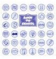 Doodle school buttons vector