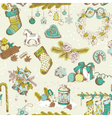 Seamless christmas pattern - hand drawn vector