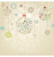 Beige background with christmas balls eps 8 vector