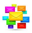 Color envelopes vector
