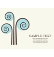 Abstract tree retro card vector