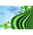 Eco green background with leaves vector