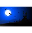 Horror halloween background- vector