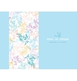 Colorful pastel branches horizontal card seamless vector