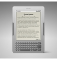 Silver digital keybord book reader vector