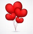 Red balloon heart shape vector
